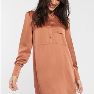 Vila Satin Shirt Dress